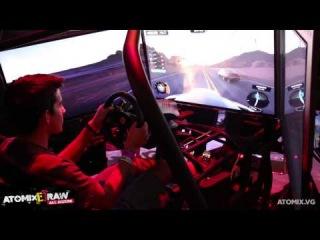 Ubisoft presume The Crew en un increíble simulador de movimiento #AtomixE3RAW