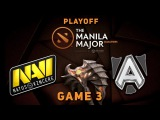 Navi vs Alliance Game 3, Playoff LB @ Manila Major