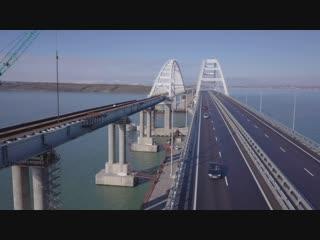 Крымский мост: строительство ж/д части, январь 2019 г.