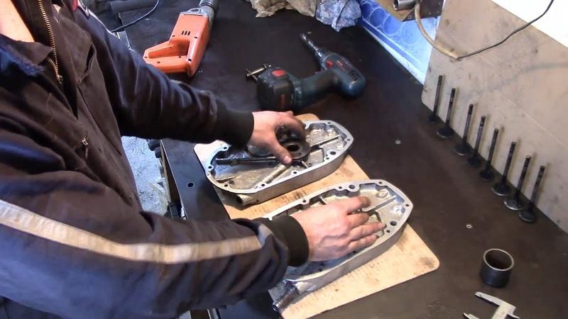Как завтулить сапун?Ремонт крышки механизма газораспределения мотоцикла М-72 , К-750
