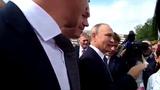 Путин в г.Обь 28.08.2018 толпа ликует и лижет ноги диктатору