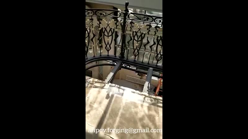Лестница винтовая кованаяМодерн.(установка)