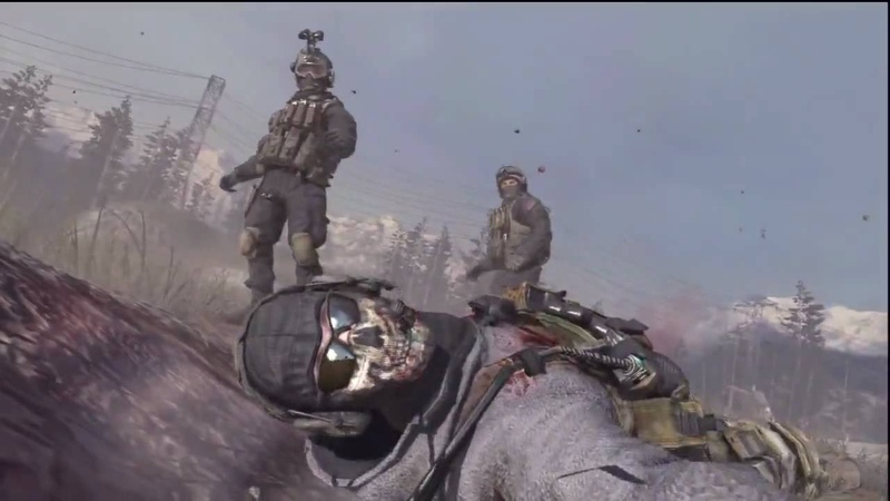 Call of Duty Modern Warfare 2 Shepard's betrayal (ghost and roaches death)