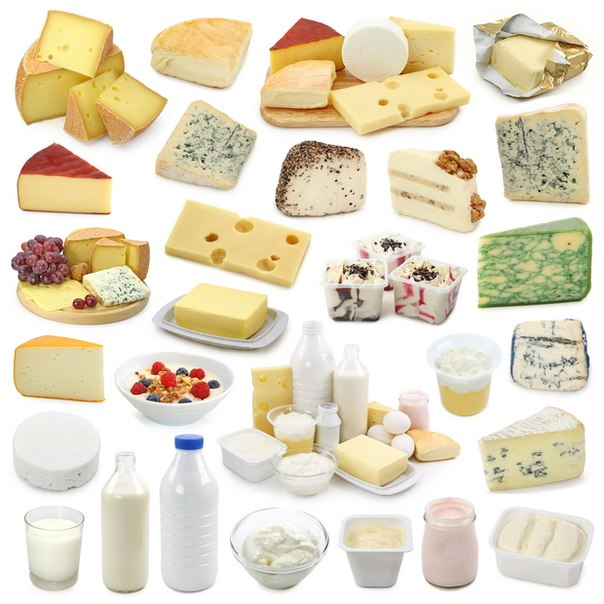 Кальций - кисломолочка, творог, сыр