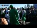 Нигерийские болельщики решили не терять времени и на последних минутах совершить своей национальный обряд
