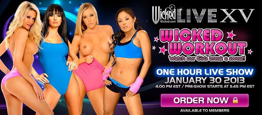 Wicked Live 15: ������ ����������� Kaylani Lei, Samantha Saint, Alektra Blue, Jessica Drak