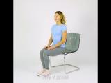 6 упражнений для плоского живота, которые можно делать прямо в кресле: