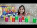 Маленькая Мелисса открывает набор Игрушек и много ярких лизунов Игры для детей Kids Show