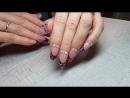 коррекция гелем стразы ногти усинск ногтиусинск еленатвердая