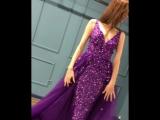 Шикарное платье в цвете ультра-фиолет.