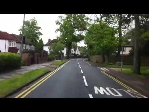 London streets (355.) - Chislehurst - A20 - M25 - Sevenoaks - Ide Hill - Hever
