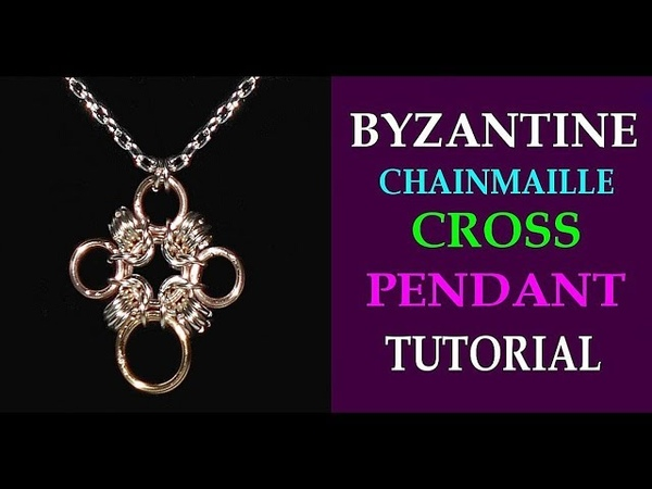BYZANTINE CROSS CHAINMAILLE PENDANT TUTORIAL