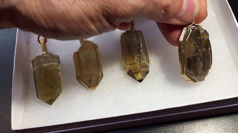 Citrine Crystals: 4 outstanding pendants