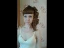 Прическа из локонов на среднюю длину волос