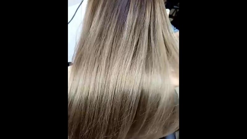 Я забыла сделать фото до😢Седина 80%,полотно 6/43 концы 9/3(было)..😊😉а теперь вот такая красота! парикмахерАннаВеселова рельефн