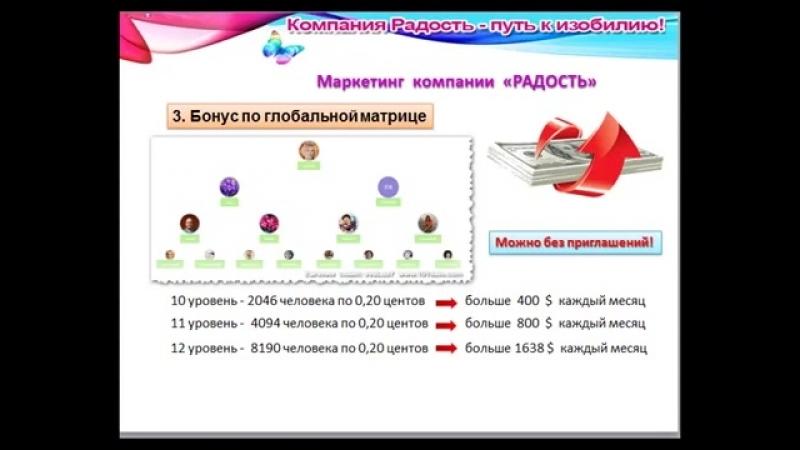 Компания РАДОСТЬ. Краткий маркетинг