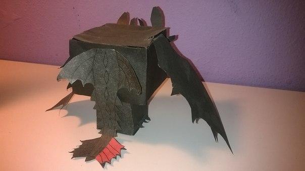 Как сделать из бумаги дракона беззубика