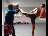 Luke Rockhold training for Lyoto Machida (short clip)