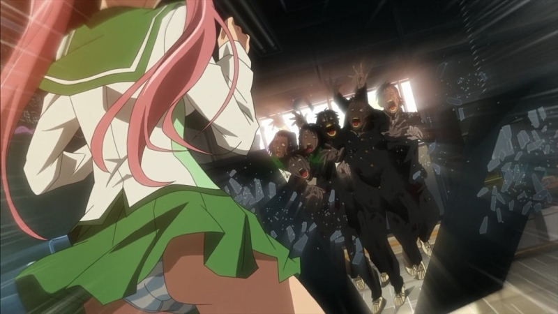 Школа мертвецов(Gakuen Mokushiroku: High School of the Dead) - 02 [RUS озвучка] (аниме эротика, этти,ecchi, не хентай-hentai)