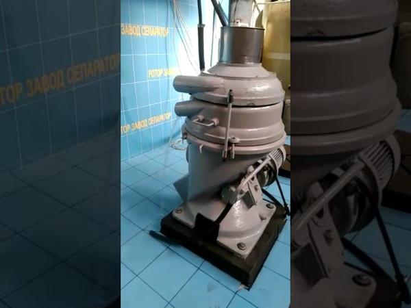 РОТОР-СЕПАРАТОР. Испытание жирового сепаратора РТОМ-4,6 наладка рабочих параметров.