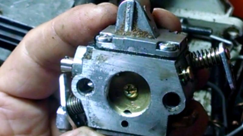 Холостой ход бензопилы STIHL MS 1800. Бензопила глохнет и нельзя настроить обороты