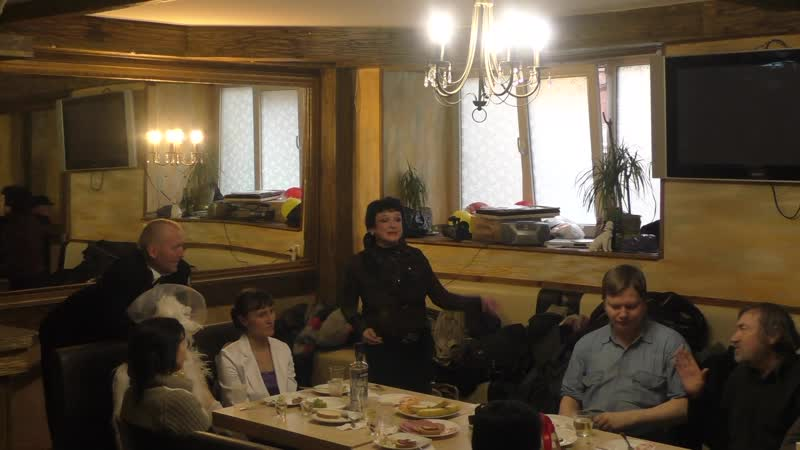 Архив Травина Солистка джаз оркестра Иосифа Вайнштейна Ольга Юферева на юбилее Владимира Холменко