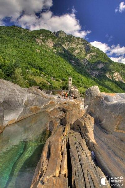 Река Верзаска – кристально чистая вода