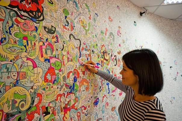Современная раскраска стен