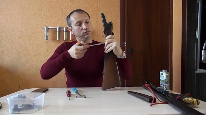 разборка ружья иж 54 реставрация приклада Teak Oil