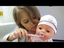 Утренняя рутина Юля как мама чистит зубы беби борну Julia mom for Baby Born