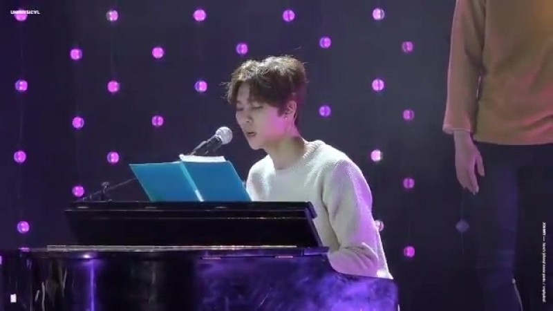 Here is a short clip of JOHNNY playing piano while SINGING to How Deep is Your Love 2015 in case you forget how lovely and talen