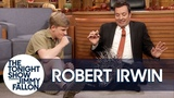 Robert Irwin's Baby Porcupine Finds a Home on Jimmy's Lap