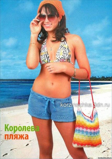 Вязаные спицами шорты для лета.  Категория: Вязание на спицах юбок Просмотров: 2950 Добавил: Madama Дата.