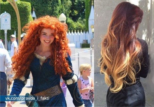 Девушка волосы длинные