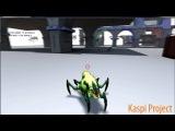 Анимация атаки и сна жука