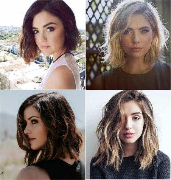 Стрижка не требующая укладки на средние тонкие волосы