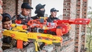 LTT Nerf War SEAL X Warriors Nerf Guns Fight Criminal Group Dr Lee Police Patrol Motorbike