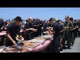 USS John C. Stennis Steel Beach