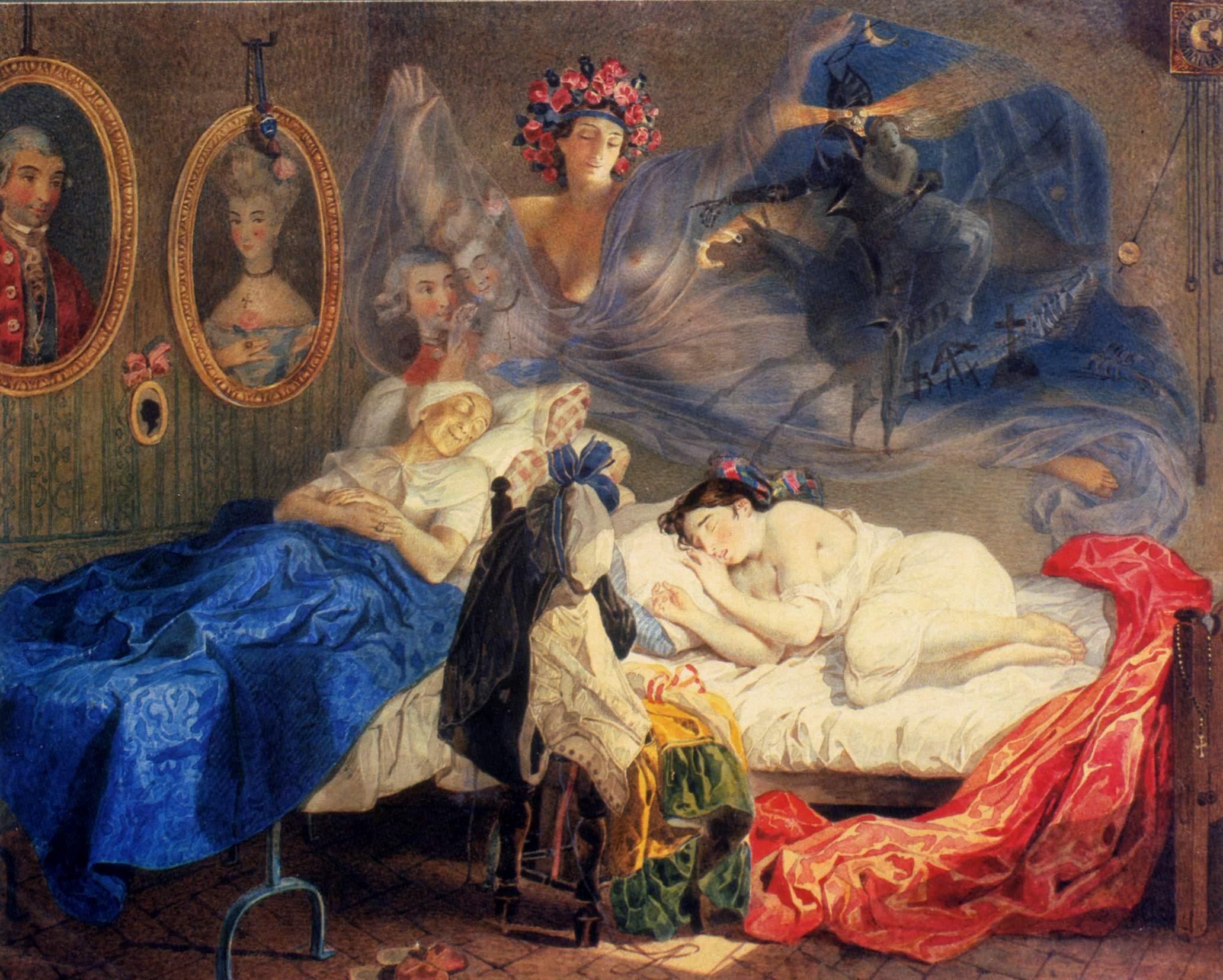 Видел я во сне горох, утром встал и вдруг подох. Д.Хармс