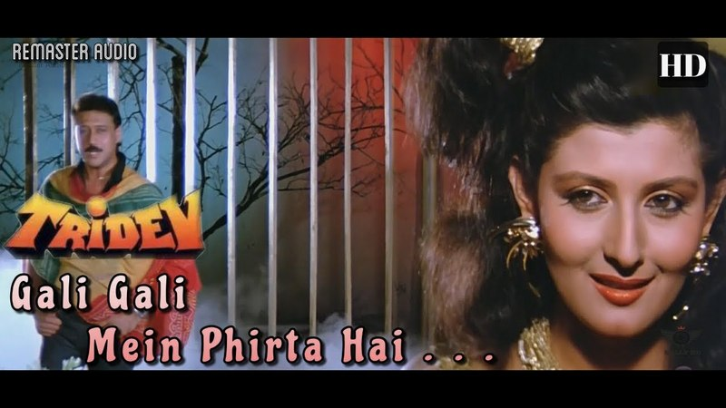 Gali Gali Mein Phirta Hai - Tridev (1989) Full Video Song *HD*