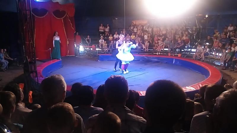 Цирк в Вельске. Танец лебедей