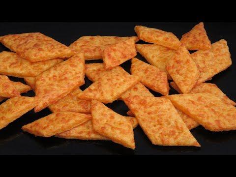 ГЕНИАЛЬНАЯ ЗАКУСКА ПОД ФУТБОЛ сырные крекеры к Пиву | Cheese Cracker Recipe