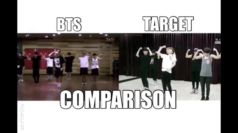 BTS(방탄소년단) vs TARGET - We Are Bulletproof Pt.2 comparion