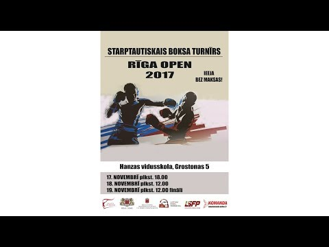 Boxing tournament Riga Open 2017 Day 1