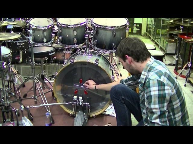 CLICK-kick system installation / click kick / bass drum