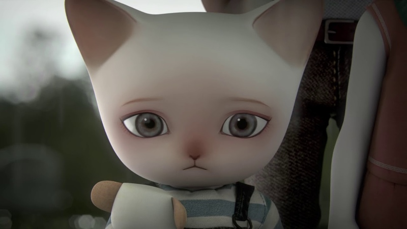Short film sad cat animation