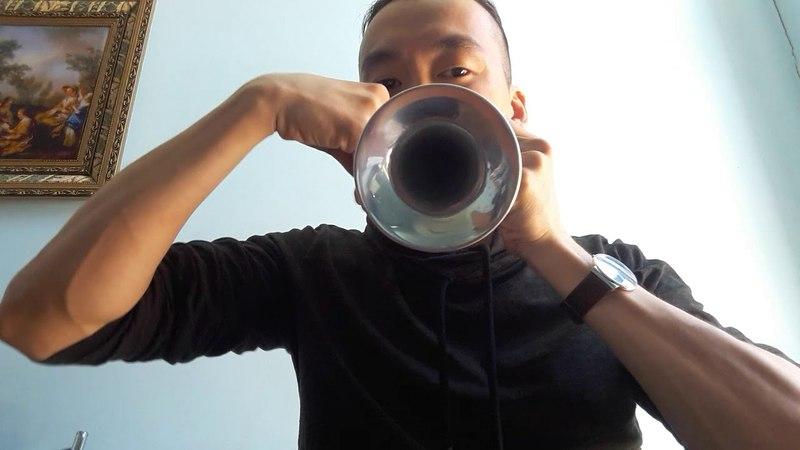 American jew's harp with trumpet. Американский джьюс харп с раструбом. 1