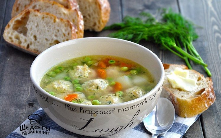 Суп с фрикадельками куриными пошаговый рецепт