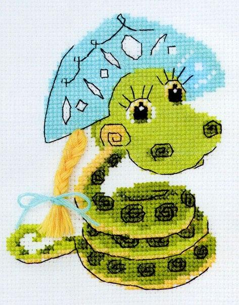 Схемы вышивки змеи