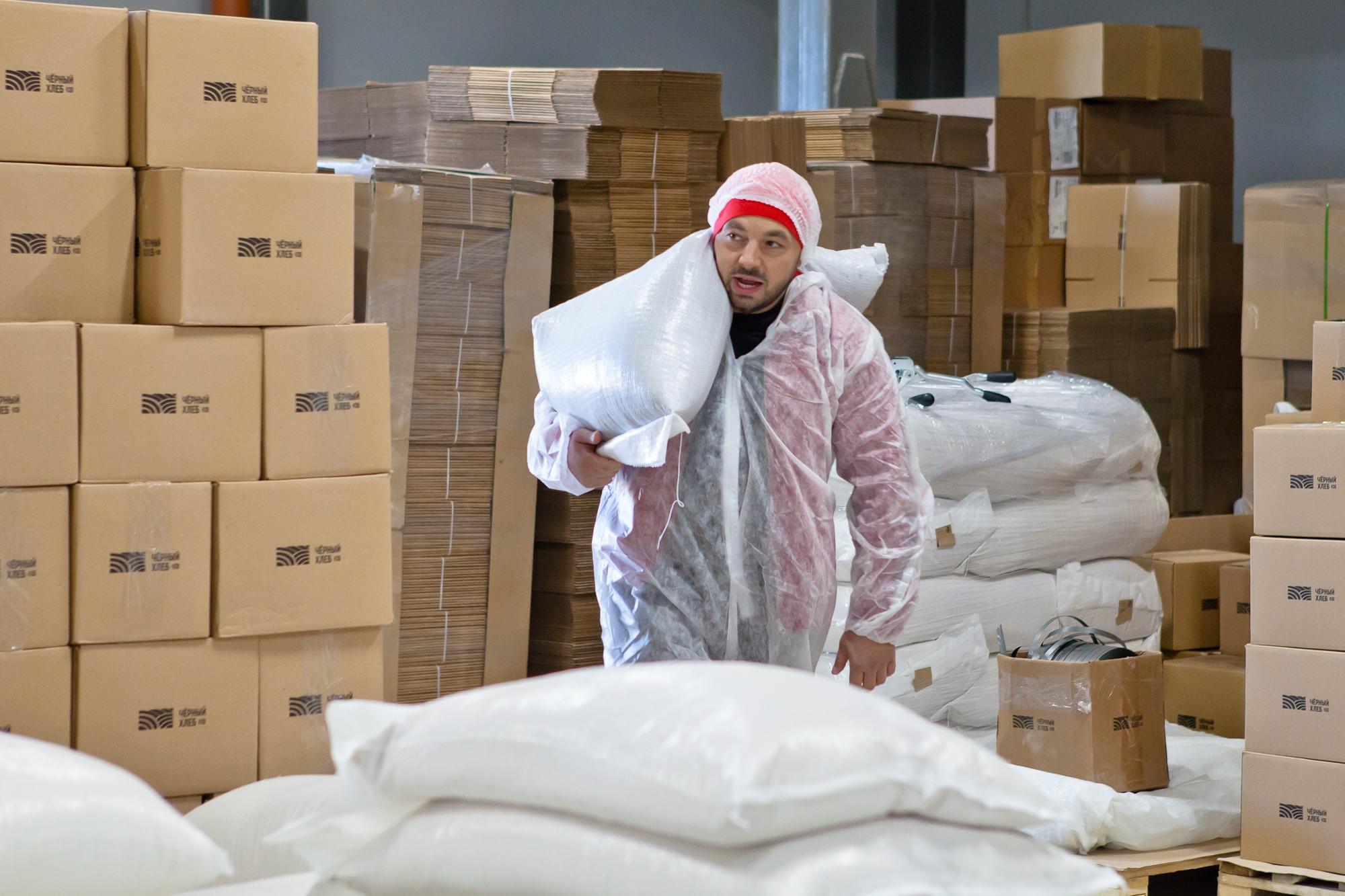Чёрный хлеб, склад продукции в Хатманово, Тульская область